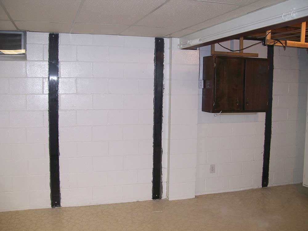 Basement waterproofing system with fresh new cement