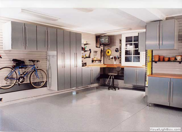 A modern garage design, with space efficiency