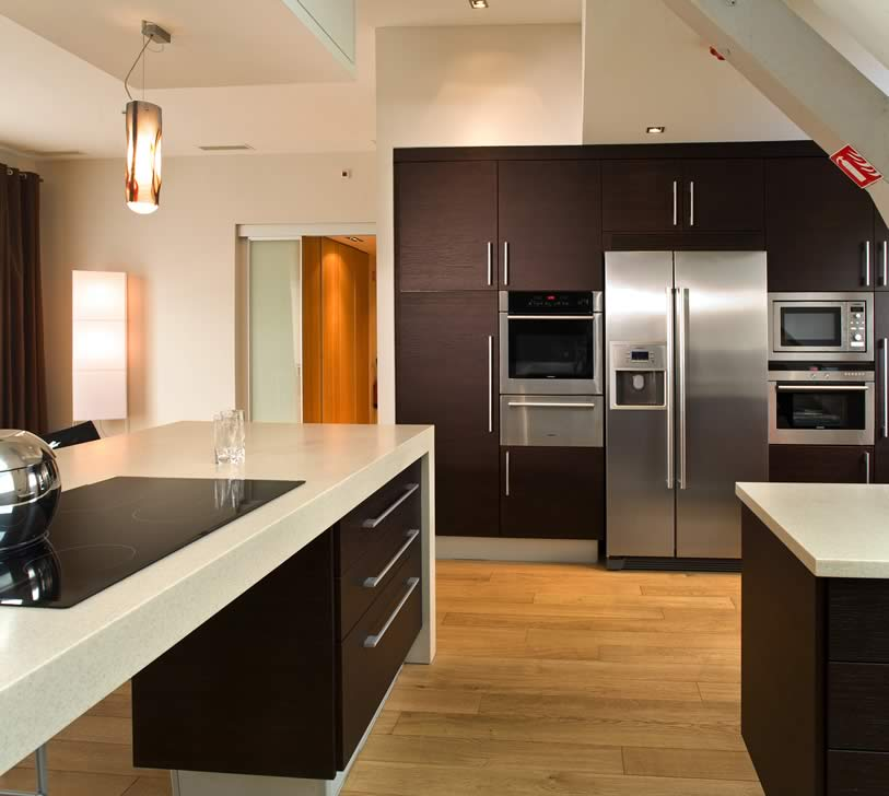 Very beautiful, modern materials went into this dazzling kitchen