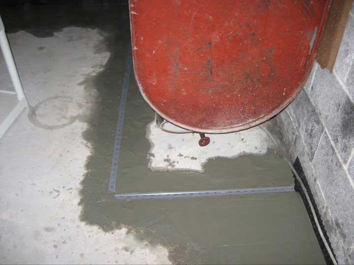 A drainage system specifically around hot water heaters, furnaces, A/C units, etc