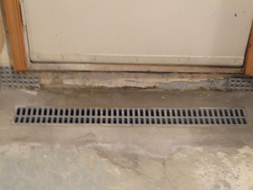 A waterproofing system that can go through the center of the basement floor
